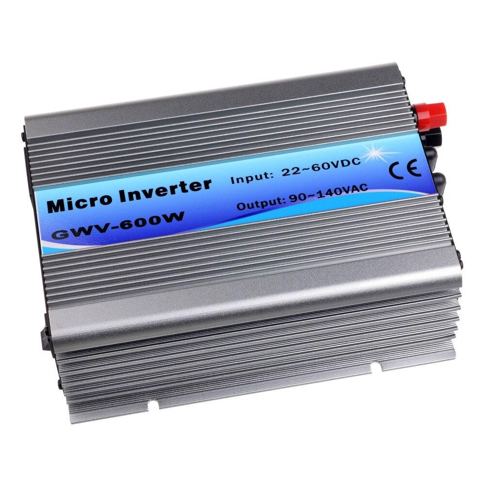600W Grid Tie InverterDC22V-60V to AC120V(90-140VAC) Pure Sine Wave Inverter 600W 50Hz/60Hz(Auto Control) CE