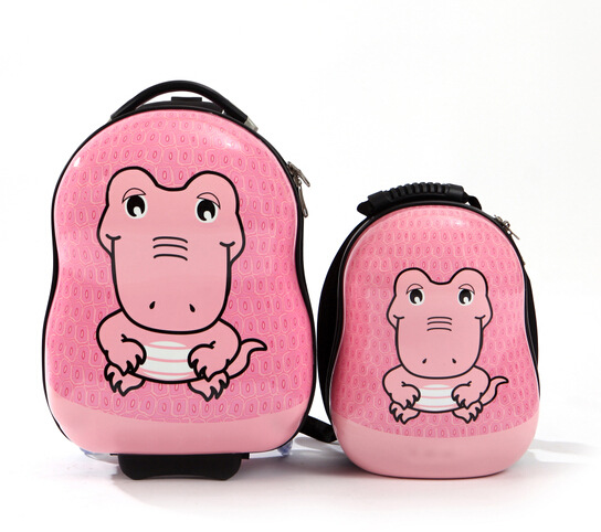 732db784d1a2 CROCS children luggage 17 inch trolley case ABS bag travel 13 inchkid backpack  children s drawbars bag Cartoon dinosaur
