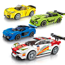 SEMBO Supercar Speed Champions Super Racers Sports Racing Car Model Building Blocks Sets Bricks Kids Educational Toys