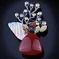 FARLENA Jóias de Alta Qualidade Multi Color shell Natural e Contas de Pedra Camisola Broche Broches Vintage para mulheres