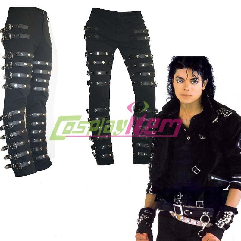 Free Shipping Michael Jackson Punk Classic Rivet Bad Concert Black Metal Rock Pants Trousers Custom Made Michael Jackson Pants Custom Mademichael Jackson Bad Aliexpress