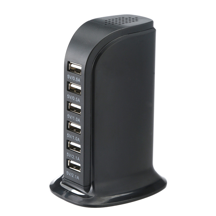 UK Plug 6 USB Multi-Port Quick Charger Desktop HUB Charging Station Power Adapter Chargers For IPhone /for Samsung 80828