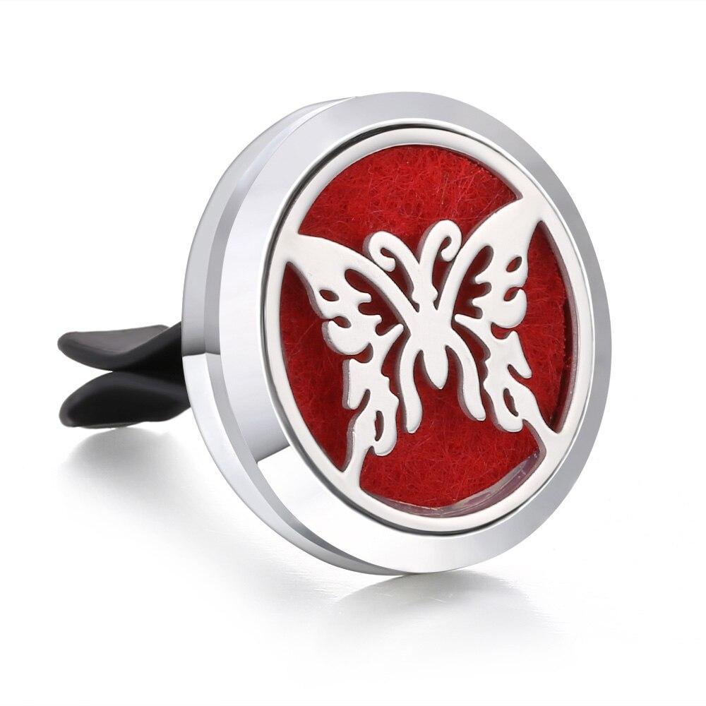 Ароматический диффузор ожерелье открытый медальон Подвеска для ароматерапии диффузор эфирного масла автомобильный освежитель воздуха автомобильный парфюмерный диффузор зажим - Окраска металла: 27