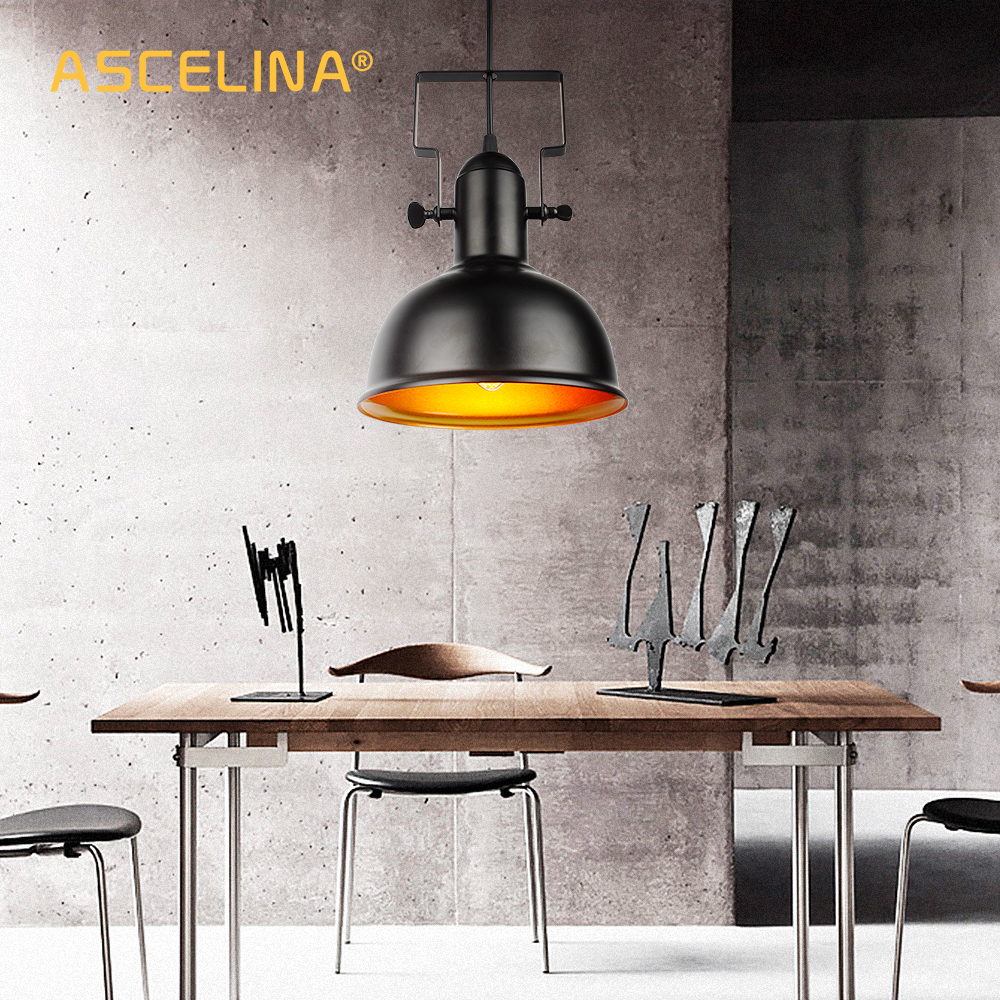 Vintage Pendant Light Industrial pendant lamp Retro Iron hanging lamp E27 cocina accesorio for home & store Decorative lighting|Pendant Lights| |  - title=
