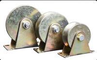 3 Inch Steel V Type Wheel Track Rail Pulley Bearing Sliding Door Gate Roller Loading Weight