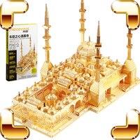 Yeni Varış Hediye Kalbi Çeçenistan Camii 3D Metal Modeli Bina Bulmaca DIY Yapı Mini Koleksiyonu Lüks Oyuncak Mevcut