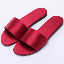 3fc34d05f076 New Home WOMEN S SlIPPERS Women s Satin Simulation Silk Word Drag Indoor  Non-slip Shoes Wedding