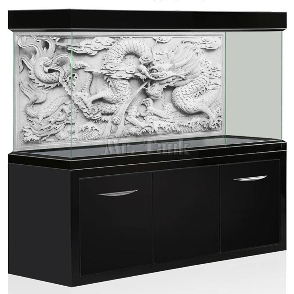 Mr.Tank HD Aquarium Hintergrund Poster DIY Grau Drachen Cameo - Haustier-Produkte
