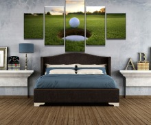5 Piece HD Print Large Golf Course Leisure Sport Painting Canvas Wall Art Picture Home Decoration Living Room