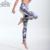 2016 Nova Mulheres Fumaça Cinza Impresso Calças de Fitness Cintura Alta-secagem Rápida Magro Moda Leggings de Comprimento No Tornozelo