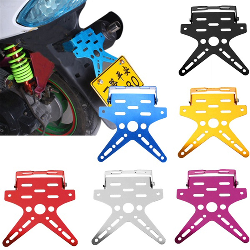 Adjusted Motorcycle License Plate Holder Mount Bracket Registration Number Plate Cover Aluminum Alloy Universal|License Plate|Automobiles & Motorcycles - title=