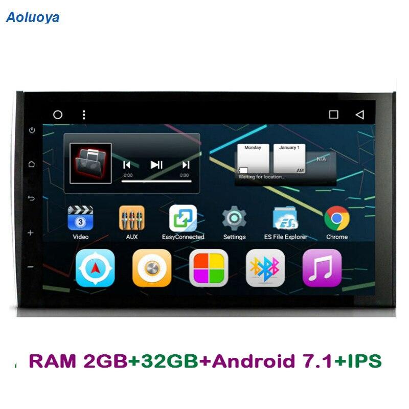 Aoluoya IPS RAM 2 GB + 32 GB Android 7.1 AUTO DVD-speler voor Porsche - Auto-elektronica