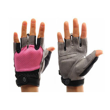 Summer Cycling Cycle Bike Bicycle Half Finger Less Breathable GLOVES MITTS FITNESS TRAINING BODY BUILDING