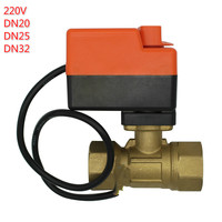 motorised valve or manual valve electric motor two way ball valve 220v DN20 DN25 DN32