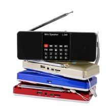 Mini Altavoz MP3 Reproductor de Música Portátil Radio FM Estéreo Doble Altavoz con TF Tarjeta de Disco USB de Entrada de Regalo Para Los Padres