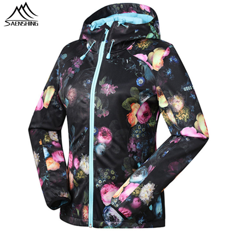SAENSHING Spring Softshell Jacket Waterproof Fleece Warm Women's Windbreaker Breathable Outdoor Hiking Jacket Gsou Snow Coats 2017 new camel outdoor spring summer skin clothing girls waterproof breathable windbreaker sun protective jacket a7s1u7178