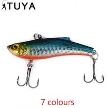 ФОТО 1pc 7.3cm 18.95g wobbler fishing lure minnow bass lifelike bionic vib lure 6# owner hooks peche isca artificial 37#