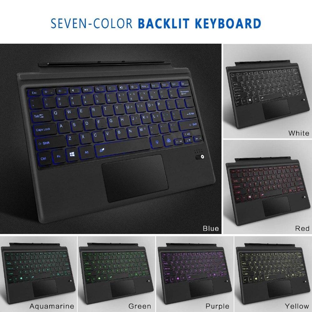 Megoo Surface Pro 6 Type de couverture mince sans fil Bluetooth clavier avec pavé tactile pour Microsoft Surface Pro 6/4/3/5/nouvelle Surface Pro