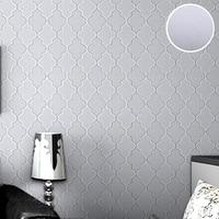 Designer Modern Wallpaper Simple Solid Color Black On White Geometric Wall Paper Pattern Hallway Interior Decorative