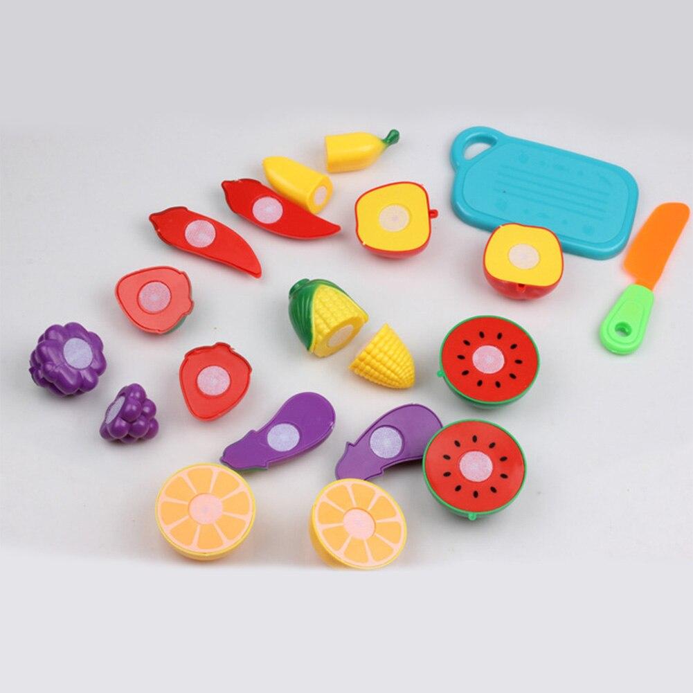 Cutting Fruit Vegetable Pretend Play Children Kid Educational Toys Set for Children 88 NSV775