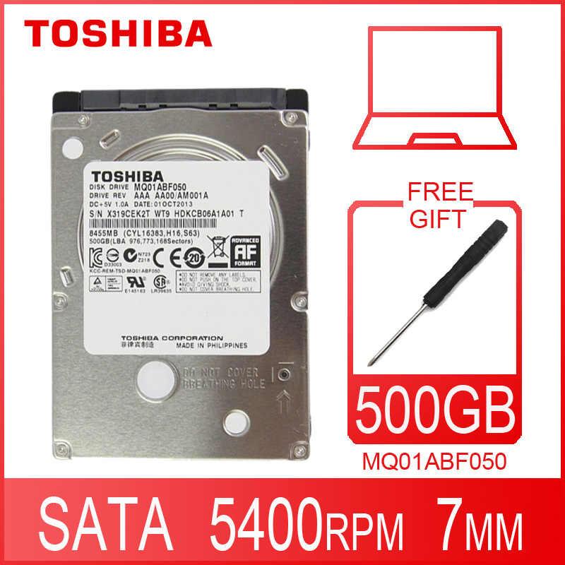 """TOSHIBA ordinateur portable disque dur 500 GB 500G interne HDD HD 2.5 """"5400 RPM 8 M Cache 7mm SATA 2 MQ01ABF050 Original nouveau pour ordinateur portable"""