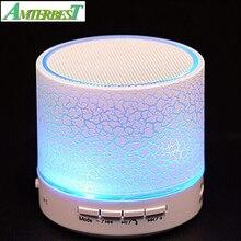 AMTERBEST LED Musical Áudio Alto-falantes Subwoofer Alto-falantes Portáteis Sem Fio Bluetooth Mãos Livres para IPhone Smartphone Android