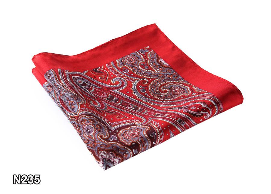 New-N235 HN23R)  Red Gray Paisley 35cm (6)