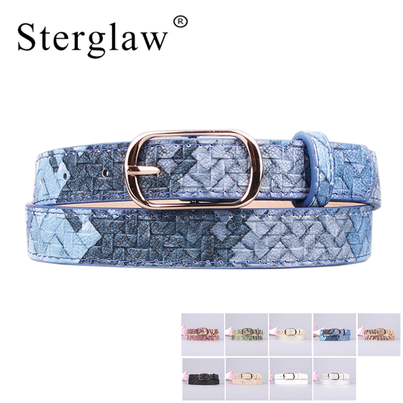 106x2cm Hot Sale Pu Girl Leather   Belt   Jeans Fine   Belts   For Women 2019 New female Designer Candy Color Painted   belts   Lady A103