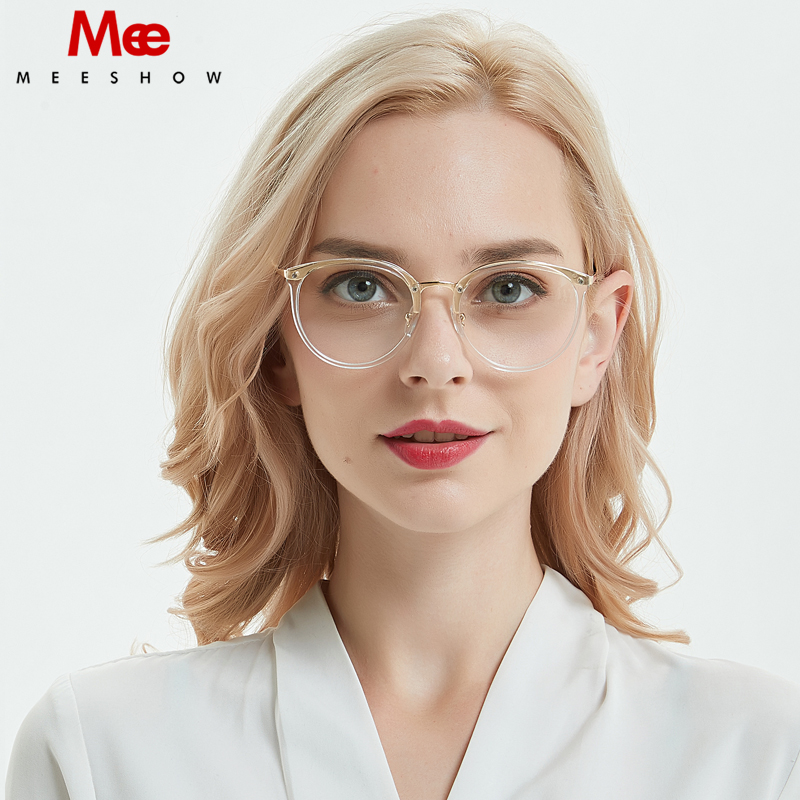 9cd191590a Meeshow Fashion design eyeglasses optical frame with case Eyeglasses  Lunettes Customs prescription glasses