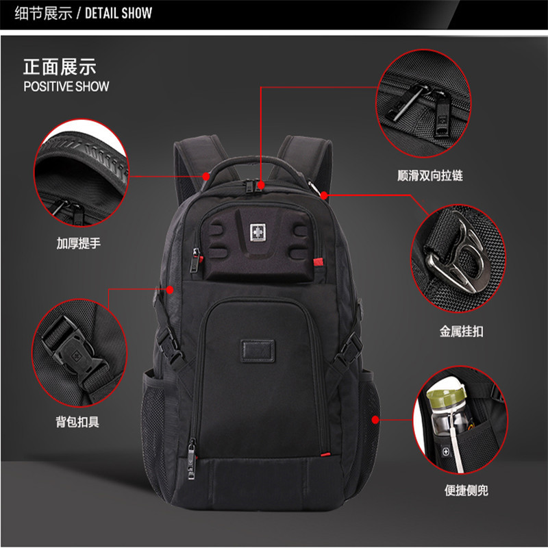 Men Male 17 Inch Sac A Dos Mochila Bag Fashion Laptop Backpack Waterproof Laptop Backpack Quality Nylon School Bagpack Back Pack