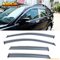 For 07-11 Honda CRV Window Visor Vent Shade Rain Sun Wind Guard Chrome Molding