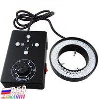 Ring Light 62mm 72 LED Microscope Camera Illuminator Flash Lens 95 115mm working distance +/ 6500K Color Temperature