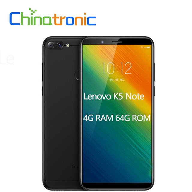 "Lenovo K5 Note L38012 4GB 64GB ZUI 3.9 4G FDD LTE Mobile Phone 6.0""18:9 1440x720 Snapdragon 450 Octa-core Dual Back Camera"