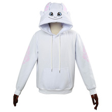 How to Train Your Dragon Light Fury Cosplay hoodie Costumes Sweatshirt Casual Zipper