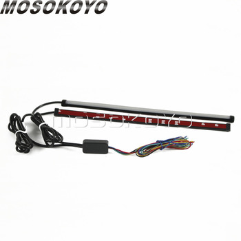 45 см автомобильный мотоциклетный DRL светодиодный последовательный светильник, Полоска, плавный переключатель, тормозной светильник, Красн...