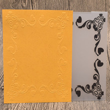 Rectangle Lace Frame Plastic Embossing Folders for Card Making Scrapbooking Wedding Paper Cards Photo Album Decor