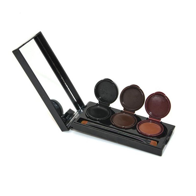 3 Colors Music Flower Makeup Eyebrow Powder & Eyeliner Gel Lasting Smudgeproof Waterproof Cosmetics Eye Brow Enhancers