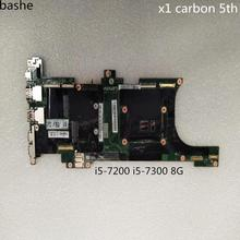 nm-b141 for Lenovo Thinkpad X1 Carbon 5th laptop motherboard i5-7200 i5-7300 8G FRU:01AY057 01AY074 100% test free shipping