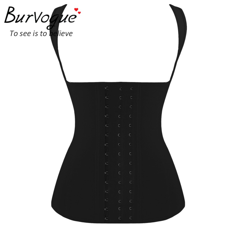 Burvogue Corselet 4 Steel Bones Latex   Corset   Vest Slimming Shaper Waist Trainer Underbust   Bustiers   &   Corsets   Firm   Corset   XS-6XL
