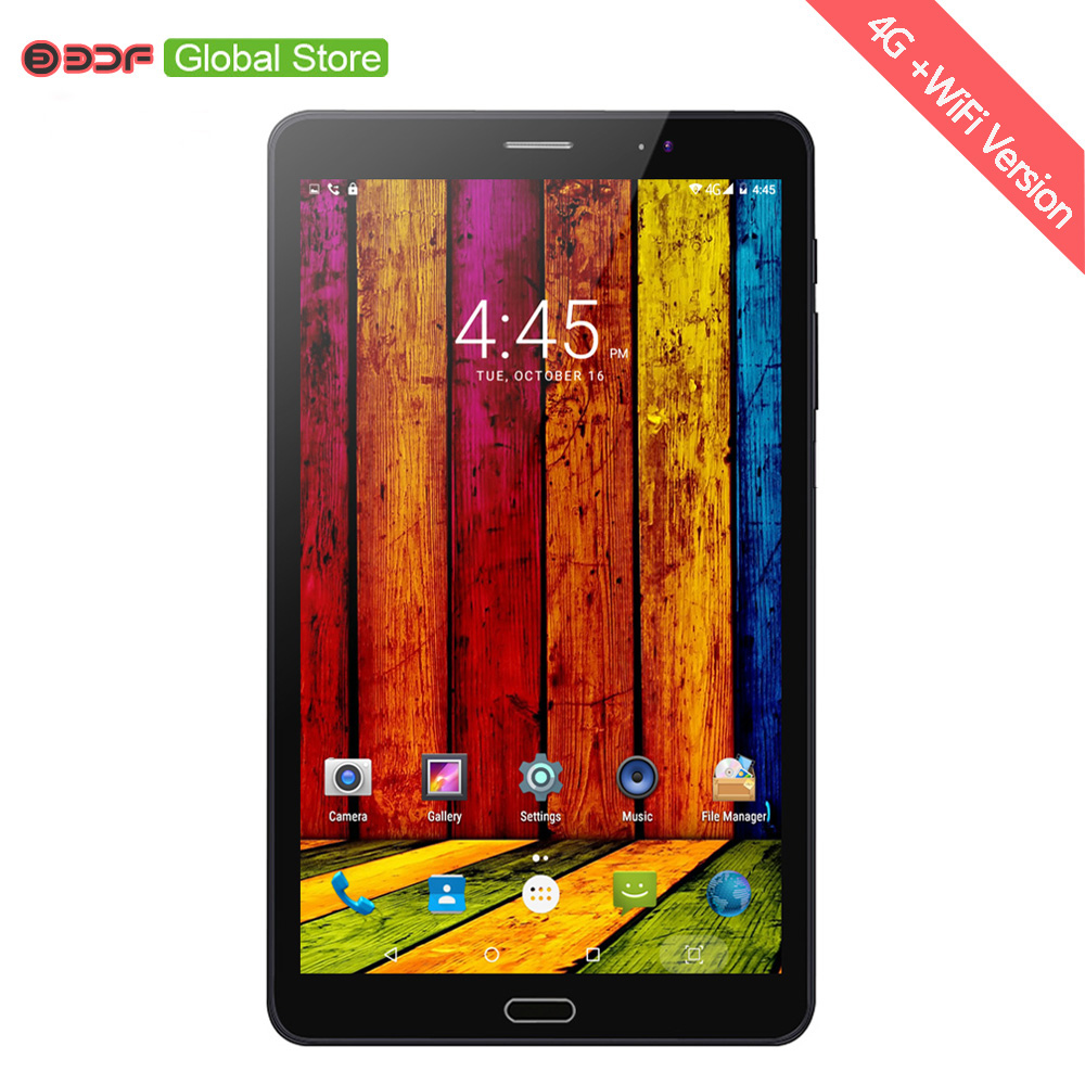 BDF 8 Inch Tablet Pc 3G 4G LTE Sim Card Android 7.0 Quad Core Tablets Pc 4GB RAM +64GB ROM Mobile Phone Call Network Pad Pc