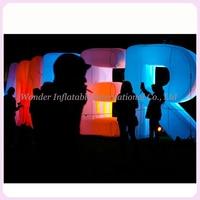 Personalizzato gonfiabili giganti lettere gonfiabili alfabeto per decorazioni della festa nuziale