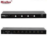 MiraBox HSV311 HD HDMI Matrix 4x4 4 input 4 output HDMI Splitter Switcher Support 3D 1080P with RS232 IR Remote Control