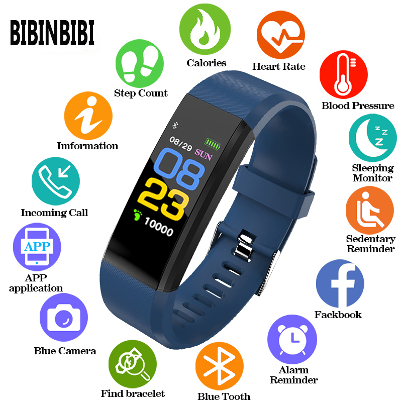 BINSSAW Men And Women Smart Watch Waterproof Watch Sport Digi Watch Blood Pressure Heart Rate Monitor Fitness Tracker Pedometer