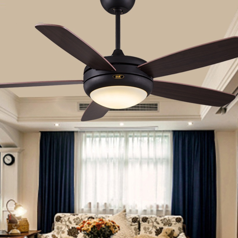 Lights & Lighting Dedicated Lukloy Simple Ceiling Fan Light Restaurant Led Lamp Five Wood Leaf Decorative Dining Room Fan Light Project With Ceiling Light Year-End Bargain Sale Ceiling Lights & Fans