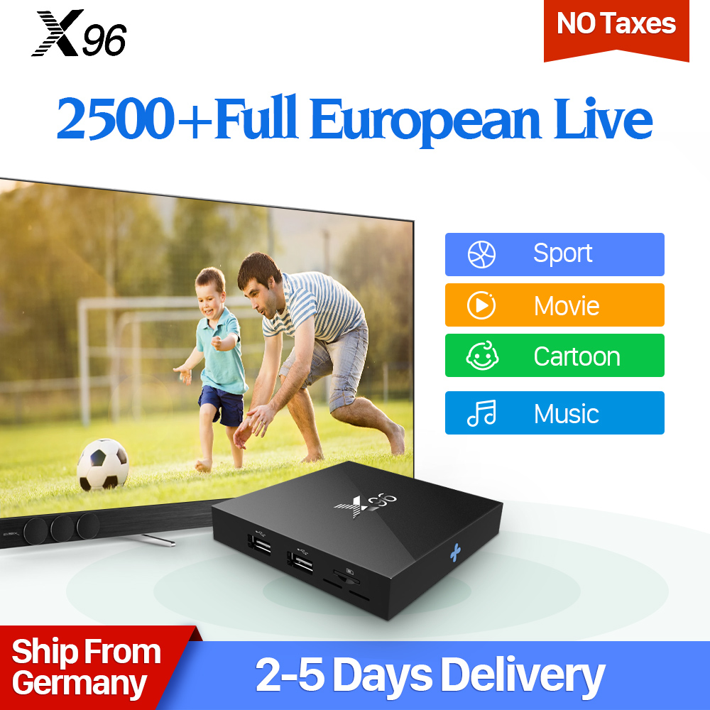 X96 IPTV Nordic Europe box S905X Quad Core Android TV Box 4K 2GB 16GB Europe Arabic UK Italy Spain Germany Sweden IPTV Receiver