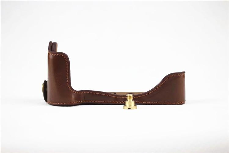 NEW PU Leather Half Case for canon eos M50 Digital SLR eos M50 Camera Brown/Black/Coffee цена и фото