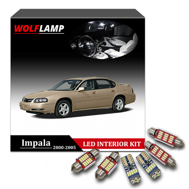 Wolflamp 13pcs Super Bright White Led Interior Car Lights For 2000 2005 Chevrolet Impala Map
