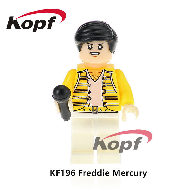 20Pcs Super Heroes Freddie Mercury Lead Singer Queen Michael Jackson Grunge Icon Popeye Building Blocks Toys for children KF196