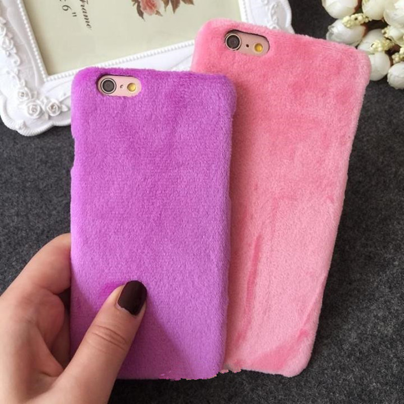 Ayeena Fashion Warm phone case Soft Velvet Hard back phone cover for iphone 6 6s 6 plus