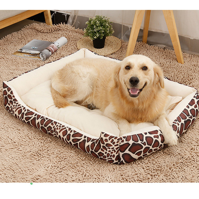 Large Dog Winter Bed Kennel Warm Washable Cat Yorkies Labrador Sleeping  Sofas House Fashion Durable Pet